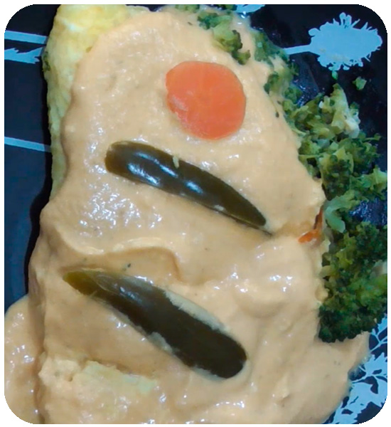 Broccoli and carrot omelette