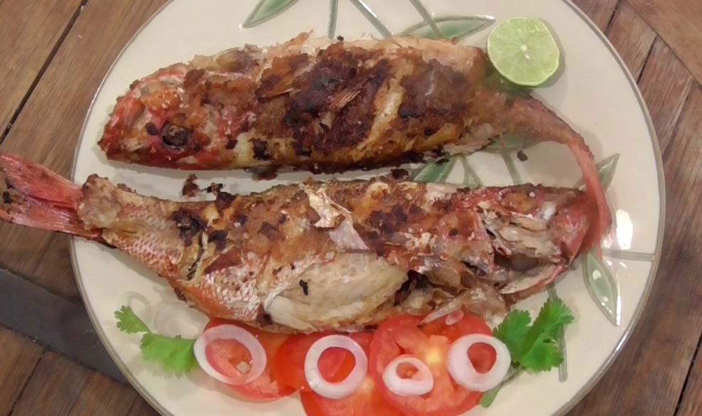 huachinango fish with garlic