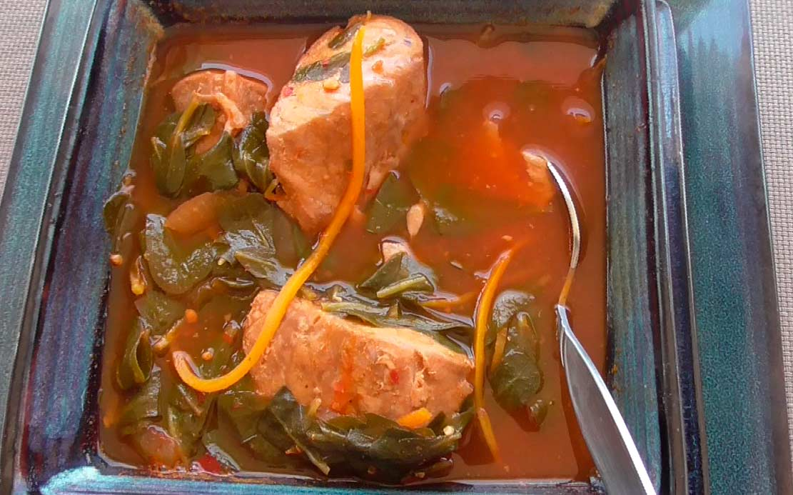 Mexican Recipe of Sailfish cooked with Purslane
