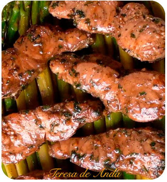 Fish with succulent asparagus
