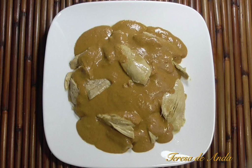 Pipian with chicken